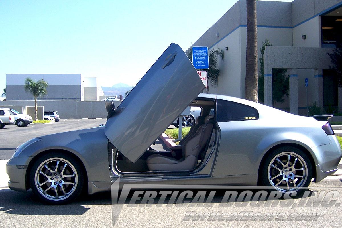 infiniti g35 coupe 2003 2007 2dr vertical lambo doors. Black Bedroom Furniture Sets. Home Design Ideas